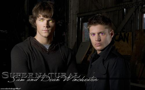 Wincest wallpaper entitled Demon Sam & Dean's eyes