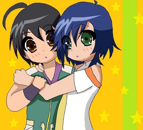 Fabia hugs Shun