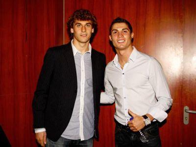 Fernando con Cristiano Ronaldo