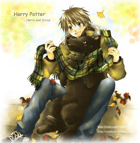 Harry and dog Sirius