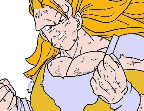 How to draw Goku SSJ3 in MS Paint Step 4
