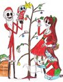 Jack, Sally, Judy, baby Justin, and Zero - jack-skellington fan art