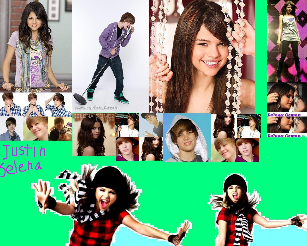 Justin Bieber and Selena sexy wallpapers