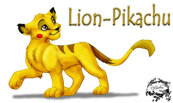 Lion pikachu