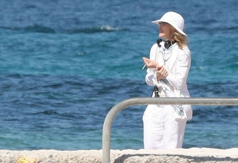 Madonna on the set of upcoming movie W.E., Cannes