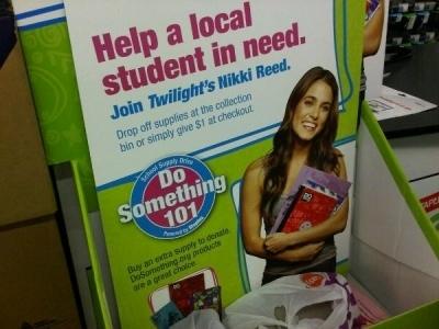 """Nikki's 'Do Something 101"""" Poster in 'Staples'"""