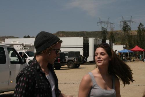 On set of Twilight with Jackson (Old/New photos)