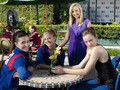 On set with Nastia Liukin - make-it-or-break-it photo
