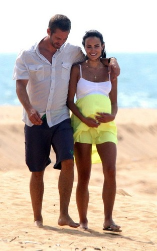 Paul & Jordana on set The Fast and the Furious 5