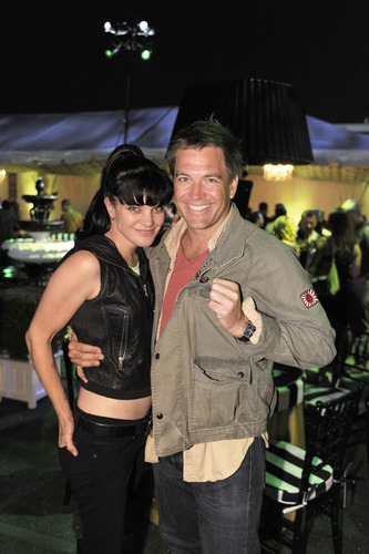 Pauley Perrette and Michael Weatherly