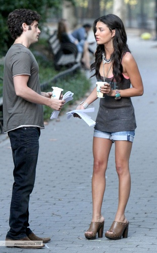 Penn&Jess on set (July 27)