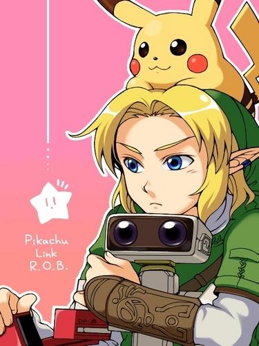 Pikachu, Link and Rob