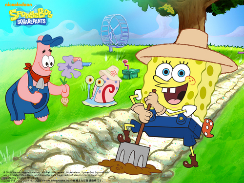 Spongebob Squarepants wallpaper called Planting