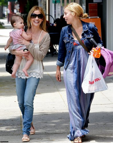 Sarah and Charlotte out in Brentwood (July 25)
