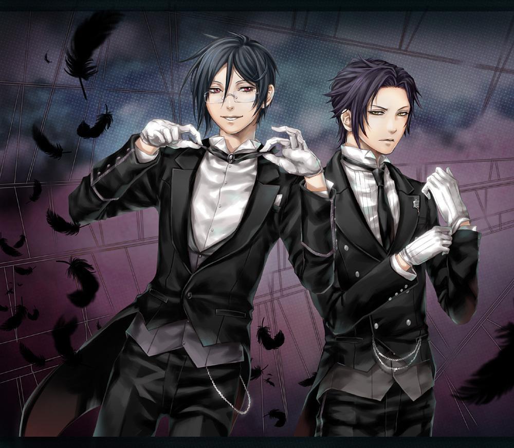 Sebastian and Claude - kuroshitsuji photo