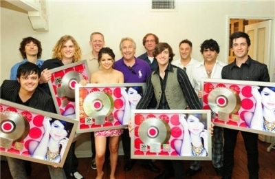 "Selena celebrating ""Kiss and Tell"" Going Gold!"