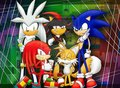 Sonic,Shadow,Silver,Knuckles,Tails