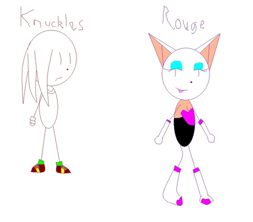 ROUGE THE BAT kertas dinding called Sonic rivals Rouge and knuckles