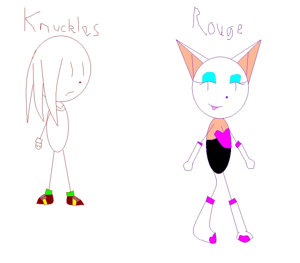 Sonic rivals Rouge and knuckles
