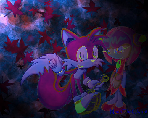 Tails and Cosmo colored 2