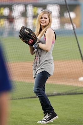 Avril Lavigne wallpaper called The Dodgers Baseball Game in Los Angeles - 20.07.10