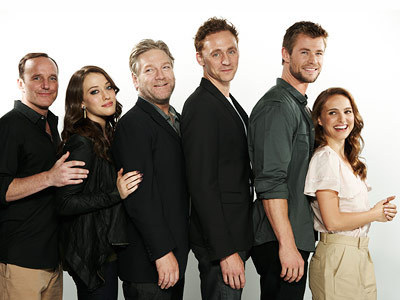 Thor Cast Comic-Con 2010 Portrait - natalie-portman Photo