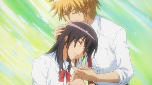 Takumi Usui x Misaki Ayuzawa karatasi la kupamba ukuta entitled kaichou wa maid-sama