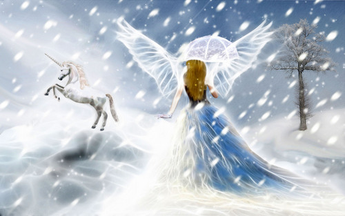 Angels wallpaper called Angel And Unicorn