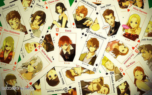 Baccano! wolpeyper called Baccano Cards