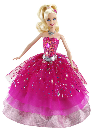Sinema za Barbie karatasi la kupamba ukuta titled Barbie A Fashion Fairytale