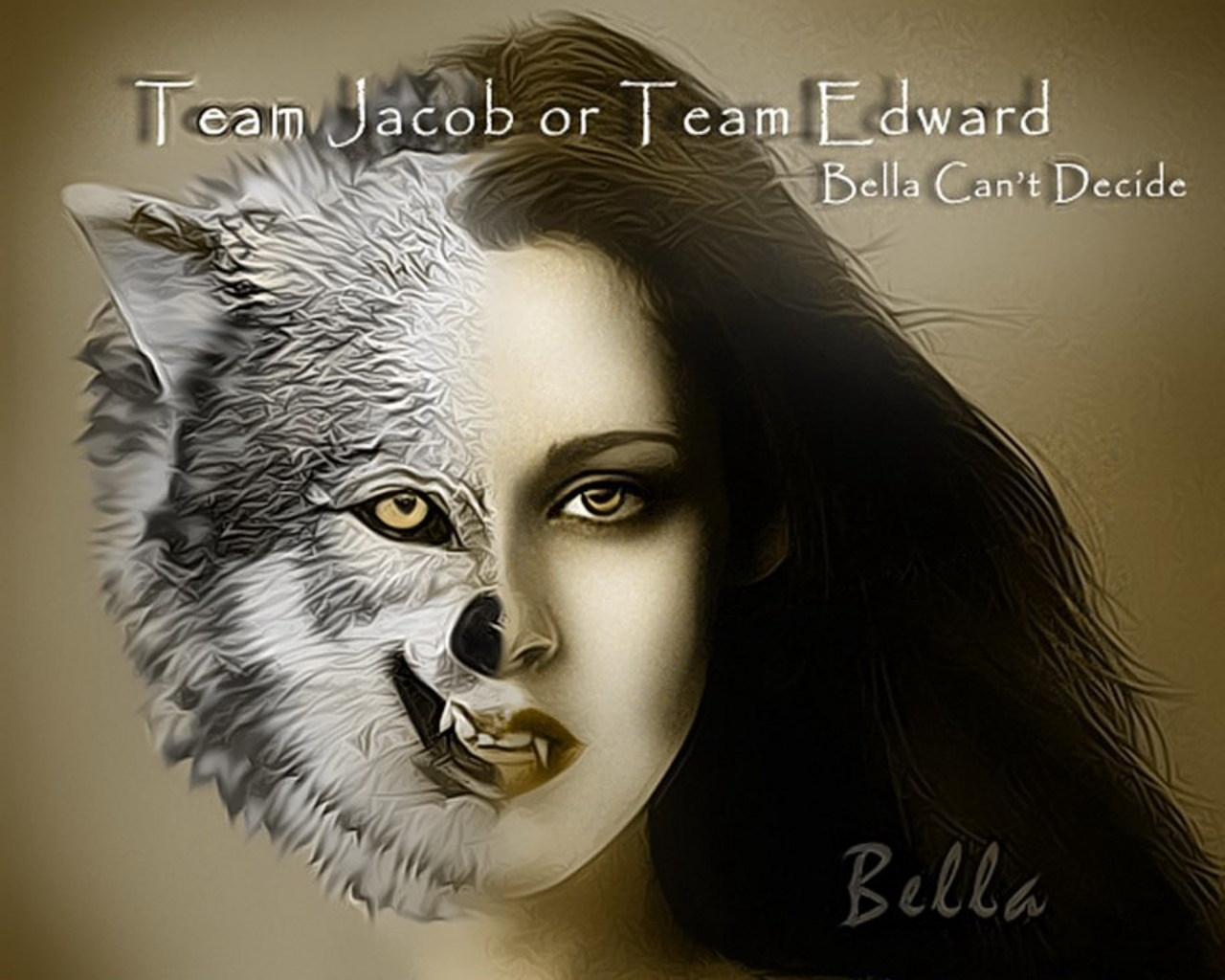 series twilight gambar Bella wolf/vampire HD wallpaper and