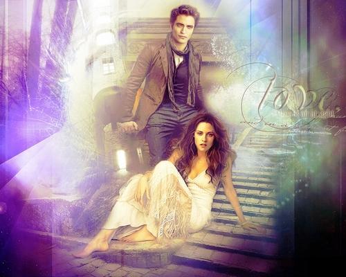Edward and Bella wallpaper entitled Edward & Bella