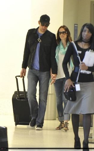 Emily Blunt and John Krasinski at LAX Airport (July 12)
