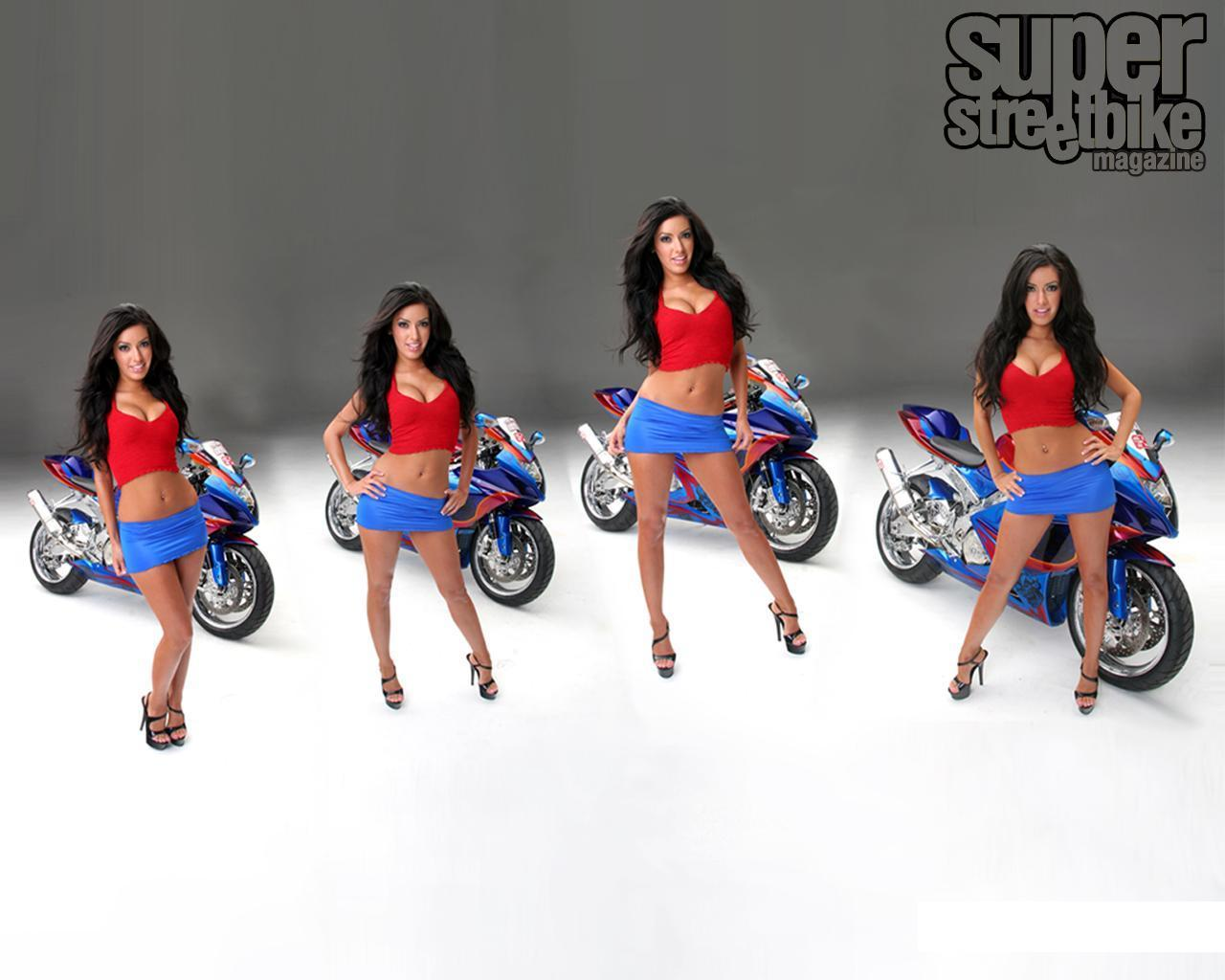 HOT & SEXY MOTORCYCLE BABES - motorcycles wallpaper