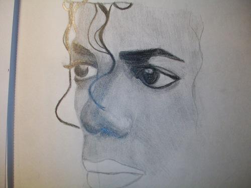 Half of MJ's face....