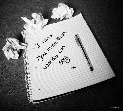 I miss you.... :'(