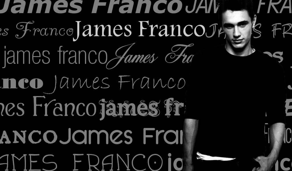 text wallpaper. James Franco text wallpaper