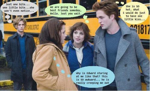 Jasper, Bella, Alice, Edward