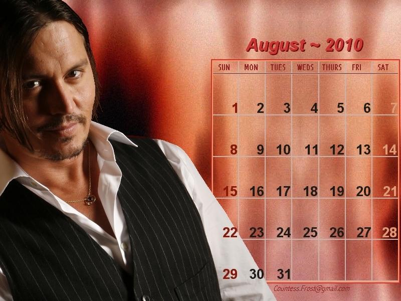 august calendar 2010. Johnny - August 2010 (calendar