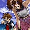 KH - Sora and Kairi by ~hikari-chan - kairi-and-sora photo