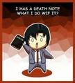 Matsuda has a Deathnote