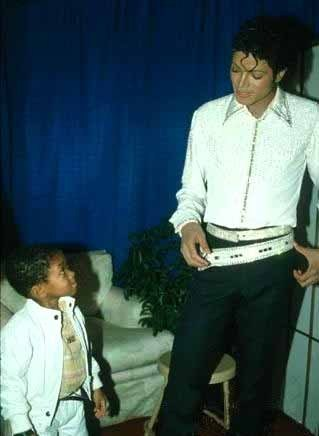 Michael with Emmanuel Lewis