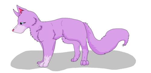 My Purple serigala drawing