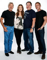 Olivia Wilde, with Harrison Ford, John Favreau & Daniel Craig: Comic Con 'Cowboys & Aliens' Portrait