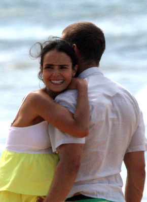 Paul Walker wallpaper entitled Paul & Jordana on set Fast & Furious 5