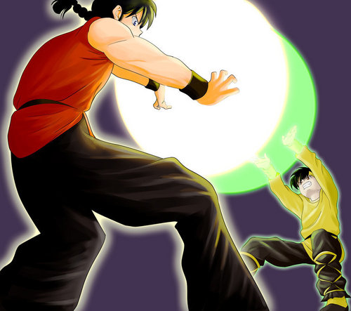 Ranma vs. Ryoga - ShiShi Hokodan (Unperfected Ver.)