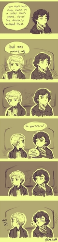 Sherlock & Watson mini comic - sherlock-on-bbc-one Fan Art