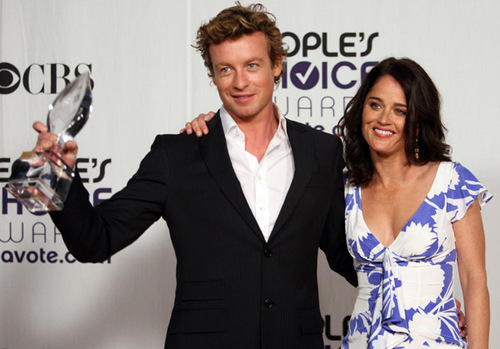 Simon Baker and Robin Tunney at the People Choice Awards