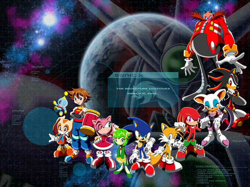 Sonic X - New Season fond d'écran