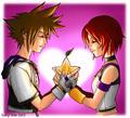 Sora and Kairi Valentine by ~tashigi
